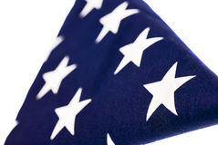 American Flag folded in a triangle Stock Photos