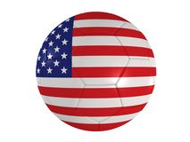 American flag on a football. 3d rendered illustration of a football with the american flag Royalty Free Stock Photos