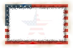 American Flag Frame Burnt. American Burnt Frame with Star Inside / Hight Quality Stock Images