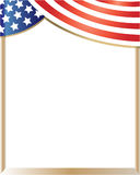 American flag frame curtain stock images