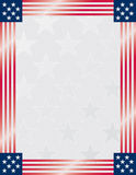 American Flag Frame with starr Stock Photography