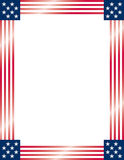 American Flag Frame. Vector. Royalty Free Stock Photo