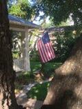 American flag fredricksburg Texas Royalty Free Stock Photo