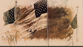 American Flag And Freedom Royalty Free Stock Images