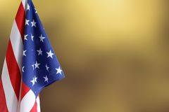 American flag. Copy space. American flag in front of blurred background Stock Photography
