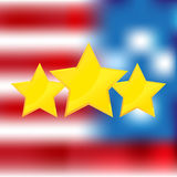 American flag with gold stars  Royalty Free Stock Images