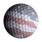 American flag golf ball isolated Stock Images
