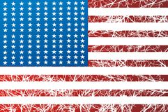 American Flag Graphic. And old glory american flag saturated Stock Photos