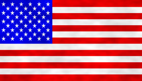 American Flag. Graphic illustration of an American Flag Stock Image