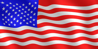 American Flag. Graphic illustration of an American Flag Royalty Free Stock Image