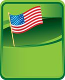 American flag on green background Stock Images