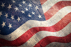 American flag grunge Stock Photography