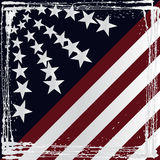 American flag grunge style. Vector Royalty Free Stock Photo