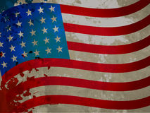 American flag with grungy pattern Royalty Free Stock Photo