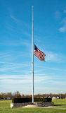 American Flag at Half-staff Stock Image
