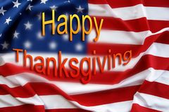 American flag. Happy Thanksgiving Stock Photography