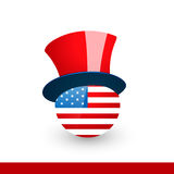 American flag with hat Royalty Free Stock Photo