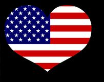 American flag heart Stock Image
