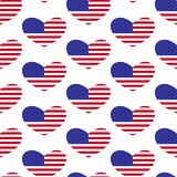 American flag heart pattern Royalty Free Stock Photos