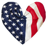 American flag, heart shape Royalty Free Stock Photos