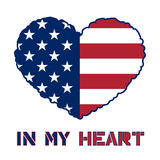American flag heart Royalty Free Stock Images