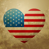 American flag heart Royalty Free Stock Photo