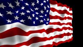 American Flag High Detail - Looping stock footage