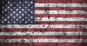 American flag with high detail of old dirty crumpled paper . 3D illustration. American flag with high detail of old dirty crumpled paper . 3D illustration Royalty Free Stock Photo