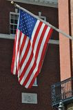 American Flag in a Historic City Royalty Free Stock Photography
