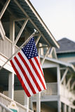 American Flag on Home Royalty Free Stock Image