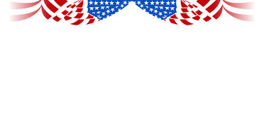 American flag horizontal curtain Stock Images