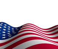 American flag in horizontal perspective Royalty Free Stock Photos