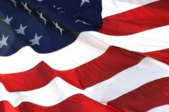 American Flag in Horizontal View Royalty Free Stock Photography