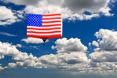 An American flag hot-air balloon Stock Photos