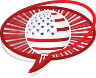 American flag icon Royalty Free Stock Photos