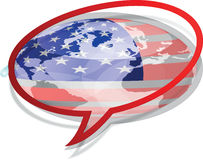 American flag icon Royalty Free Stock Photography