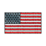 American flag icon. Cute scribble american flag icon cartoon vector graphic design Stock Photography