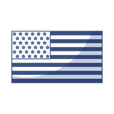 American flag icon. Shadow american flag icon cartoon vector graphic design Stock Photo