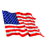 American Flag Illustration. United States of America USA Flag waving, vector format available Stock Illustration