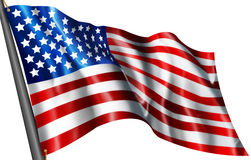 American flag Illustration Stock Images