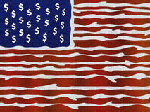 American flag illustration Royalty Free Stock Photography