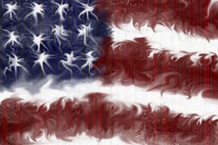 American flag illustration Stock Photography
