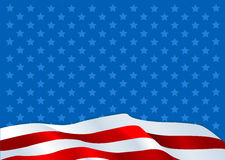 American flag. Illustration of An American flag background Royalty Free Stock Photo