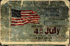 American Flag Independence Day Background. P Words on grunge background High Res Abstract Background for your project stock illustration