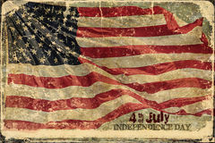 American Flag Independence Day Background Royalty Free Stock Photos