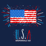 American Flag for Independence Day celebration. Royalty Free Stock Images