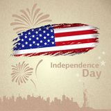 American flag. Independence day. And holiday firework stock illustration
