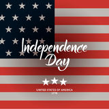 American flag and Independence Day modern calligraphy compositio Stock Photo