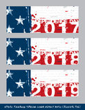 American Flag Independence day timeline cover - Artistic Brush S. Vector illustration. American Flag Independence day Facebook timeline cover - Artistic Brush Royalty Free Stock Images