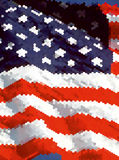 American Flag for Independence Day. Royalty Free Stock Photo